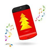 Smartphone celebrating Christmas
