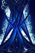 Blue Digital Tree