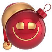 Smiling Christmas ball New Year joy