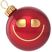 Smiling Christmas ball smiley toy