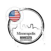 stamp Minneapolis, Minnesota
