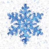 Seamless pattern geo snowflake