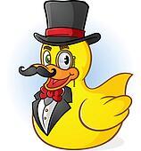 Rubber Duck Gentleman Cartoon