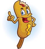 Corn Dog Cartoon Character