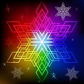 Snowflake shape colorful background