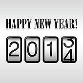 Happy New Year 2014 Odometer