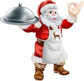 Santa Cook Christmas Dinner Concept