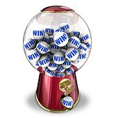 Win Lottery Ball Dispenser Lucky Winner Jackpot
