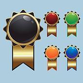 Vector Blank Badges