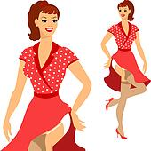 Beautiful pin up girl 1950s style.