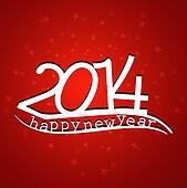 Happy new Year 2014 beautiful stylish bac