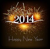 Greeting card 2013 happy New Year celebration background vector