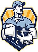 Removal Man Delivery Truck Crest Retro