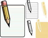 Memo pad and pencil