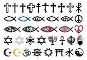 religious symbols, religion signs