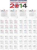 Calendar 2014 English