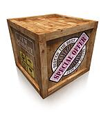 special offer on wooden box crate