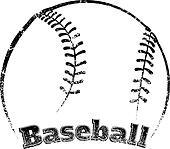 Grunge-style Baseball Design