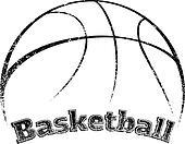 Grunge-style Basketball Design