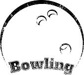 Grunge-style Bowling Design