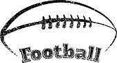 Grunge-style Football Design