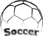 Grunge-style Soccer Design