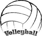 Grunge-style Volleyball Design