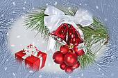 Christmas background with jingle bells