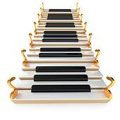 Piano stairway and notes