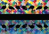 Bird vector background