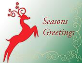 Seasons greetings card with deer st