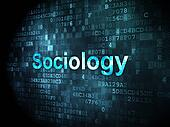Education concept: Sociology on digital background