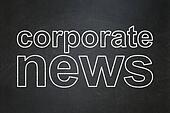 News concept: Corporate News on chalkboard background