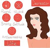 Woman Depression mental health