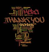 Thank you World cloud