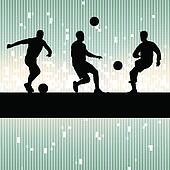 Soccer player vector background concept
