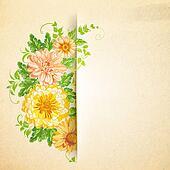 Wreath of beautiful summer flowers.