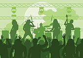 Rock concert landscape background
