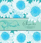 blue floral card