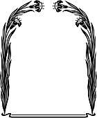 art nouveau - iris frame