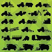 Agriculture industrial farming equipment tractors, trucks, harvesters, combines and excavators