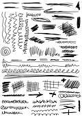 Doodle, Set hand drawn shapes, line