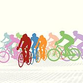 Cyclists Clip Art - Royalty Free - GoGraph