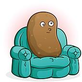 Couch Potato Cartoon Character