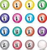 vector set of billiard balls