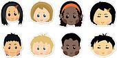 funny kids icons