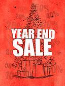 Year end sale red background