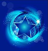Star blue background