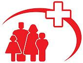 medical cross with family