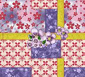 Patchwork and flower applique